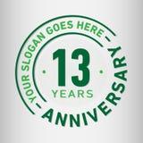 13 roku Rocznicowego świętowanie projekta szablonu Rocznicowy wektor i ilustracja Trzynaście roku logo royalty ilustracja