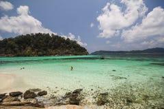Roku Roy wyspa, Koh Rok Roy, Satun, Tajlandia Obraz Royalty Free