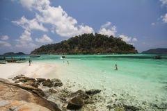 Roku Roy wyspa, Koh Rok Roy, Satun, Tajlandia Zdjęcia Royalty Free