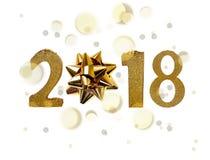 Roku 2018 złote postacie Obraz Royalty Free