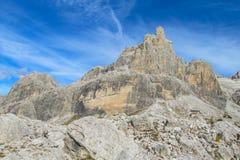 Roky峭壁山,白云岩,意大利 图库摄影