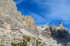 Roky falezy góra, dolomity, Włochy Zdjęcie Stock