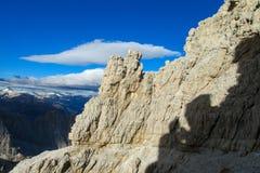 Roky falezy góra góruje i ściany w dolomitów Alps Zdjęcia Stock