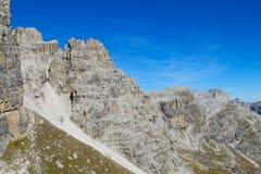 Roky falezy góra góruje i ściany w dolomitów Alps Obraz Royalty Free