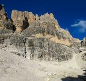 Roky falezy góry ściana dolomity Zdjęcie Royalty Free
