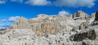 Roky falezy góry dolomity tęsk panorama Obraz Stock