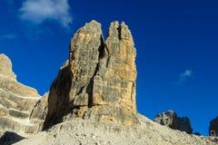 Roky falezy góry wierza, dolomity Zdjęcie Stock