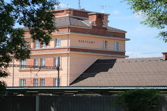 Rokycany railway station. This is a renovate Rokycany railway station in The Czech republic Stock Photography
