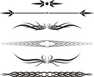 Rol, cartouche, decor, vector Stock Afbeelding