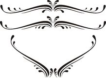 Rol, cartouche, decor, vector Stock Foto's