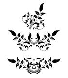 Rol, cartouche, decor, vector Stock Afbeeldingen