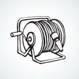 Rol de slang Vector tekening Stock Fotografie
