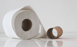 Rol del papel higiénico Foto de archivo libre de regalías