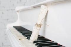Rol en wit pianotoetsenbord royalty-vrije stock foto's