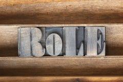 Rol houten dienblad Stock Afbeeldingen