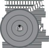 Rol met een film vector illustratie
