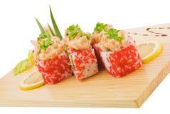 Rol spicy salmon  2 Stock Photos