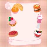 Rol van de menurol van de menubanketbakkerij Royalty-vrije Stock Foto