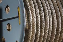 Rol van kabel op Slagschip Wisconsin Stock Fotografie