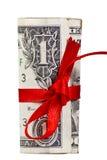Rolado acima do dólar Fotografia de Stock