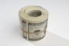 Rolado acima do dinheiro Imagens de Stock Royalty Free