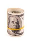 Rolado acima do dinheiro americano Fotografia de Stock