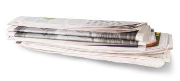 Rolado do jornal imagens de stock