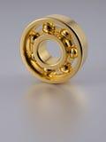 Rolamento de esferas do ouro Fotos de Stock Royalty Free