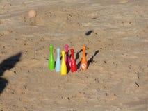 Rolamento na praia e na bacia antes do impacto fotografia de stock royalty free