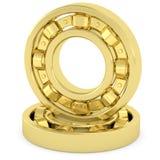Rolamentos dourados no fundo branco Imagens de Stock Royalty Free