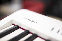 Roland electronic keyboard royalty free stock photography