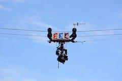 roland för cablecamfrance garros television Arkivfoto