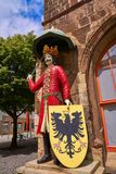 Roland figure in Stadt Nordhausen Rathaus Germany. Roland figure at Stadt Nordhausen Rathaus in Thuringia Germany Stock Image