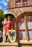 Roland figure in Stadt Nordhausen Rathaus Germany. Roland figure at Stadt Nordhausen Rathaus in Thuringia Germany Royalty Free Stock Photography