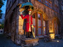 Roland figure in Stadt Nordhausen Rathaus Germany. Roland figure at Stadt Nordhausen Rathaus in Thuringia Germany Stock Images