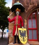 Roland figure in Stadt Nordhausen Rathaus Germany. Roland figure at Stadt Nordhausen Rathaus in Thuringia Germany Stock Photos
