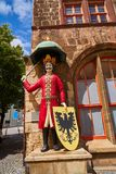 Roland figure in Stadt Nordhausen Rathaus Germany. Roland figure at Stadt Nordhausen Rathaus in Thuringia Germany Royalty Free Stock Images
