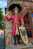 Roland figure in Stadt Nordhausen Rathaus Germany. Roland figure at Stadt Nordhausen Rathaus in Thuringia Germany Stock Photo