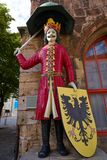 Roland figure Stadt Nordhausen Rathaus in Germany. Roland figure at Stadt Nordhausen Rathaus in Thuringia Germany Stock Image