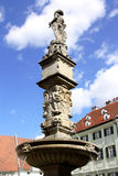 Roland Fountain Bratislava (Slovakien) Royaltyfri Foto