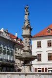 Roland Fountain dans la vieille ville de Bratislava Images stock