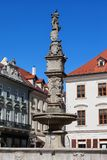 Roland Fountain i Bratislava den gamla staden Arkivbilder