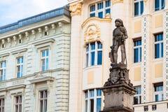 Roland Fountain no quadrado principal, Bratislava Imagens de Stock