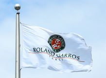The Roland Garros flag Royalty Free Stock Photos