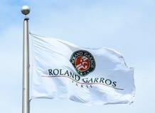 The Roland Garros flag Royalty Free Stock Photos