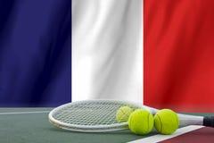 Roland Garros-Tenniskonzept Lizenzfreies Stockbild