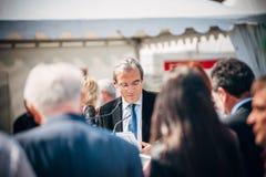 Roland Ries borgmästare av Strasbourg Royaltyfri Fotografi