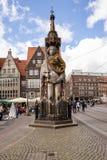 Roland-Statue in Bremen, Deutschland lizenzfreie stockfotografie