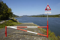 Rolandseck (Remagen, Germany) - Boat ramp into the Rhine Royalty Free Stock Images