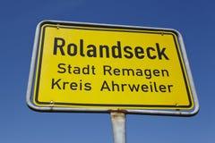 Rolandseck (Remagen) - miasteczko znak Obrazy Royalty Free